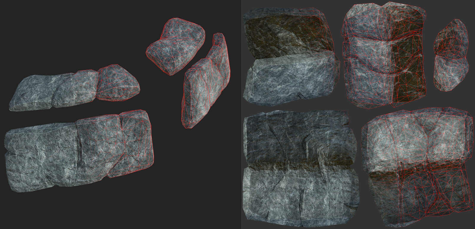Rock material built in substance painter.