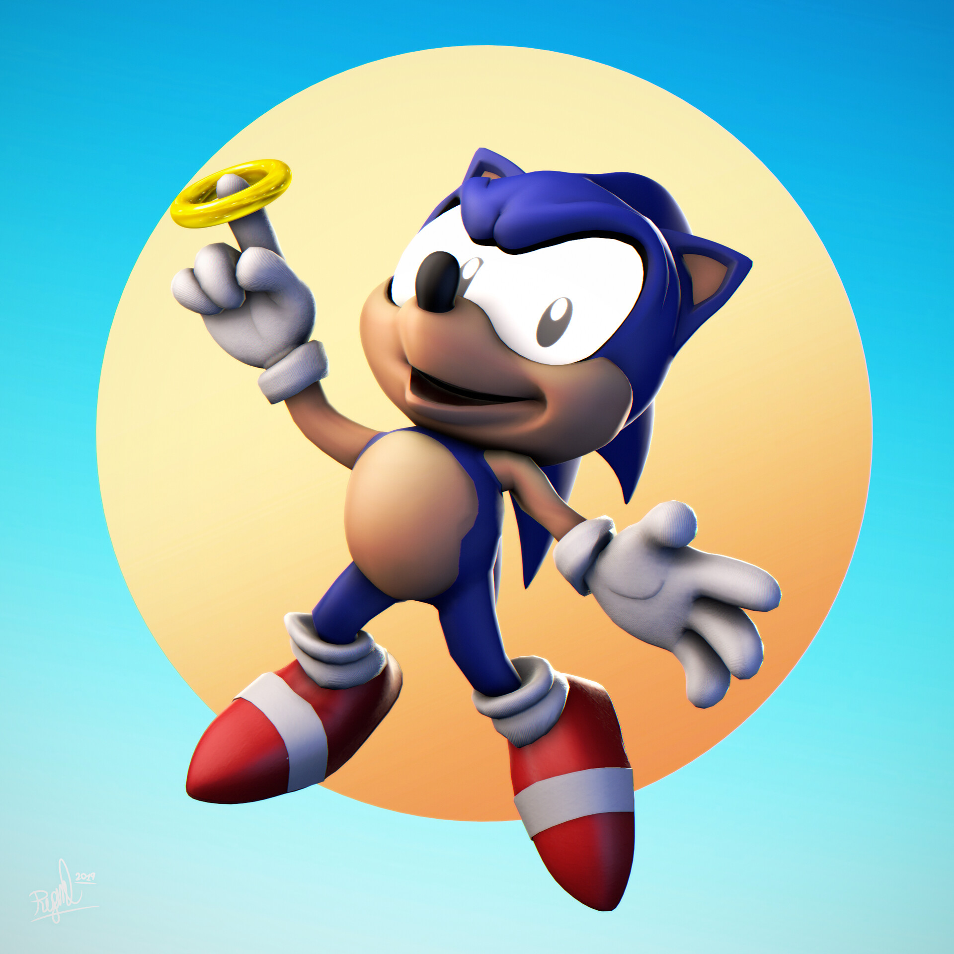 Artstation Sonic The Hedgehog Orchid Lockovich