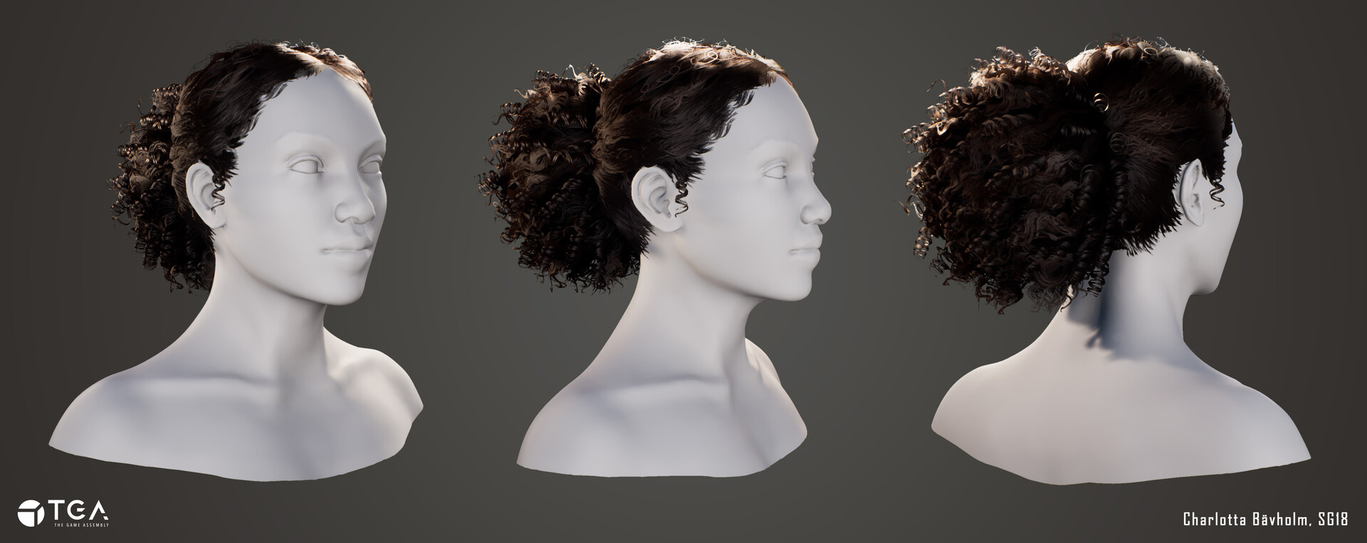 Real-time 3D hair rendered in Unreal