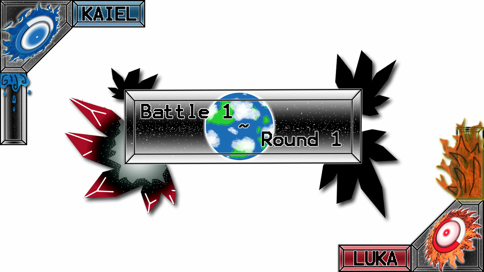 """Buntaien Brawlers"" battle screen interface"