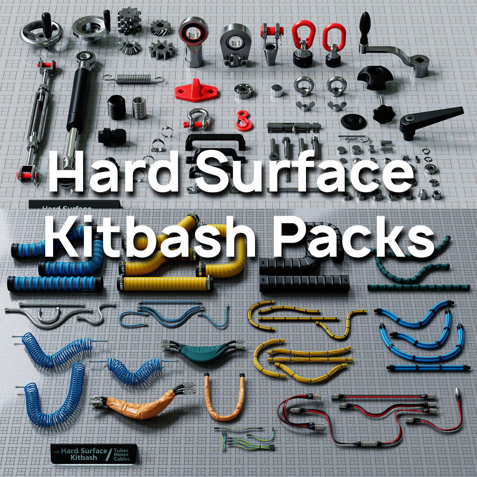 Hard Surface Kitbash Packs