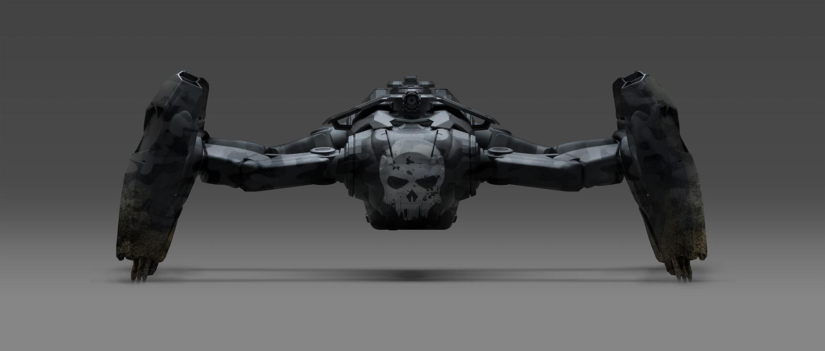 Alex ichim phoenix dragonfly camo skull front 06