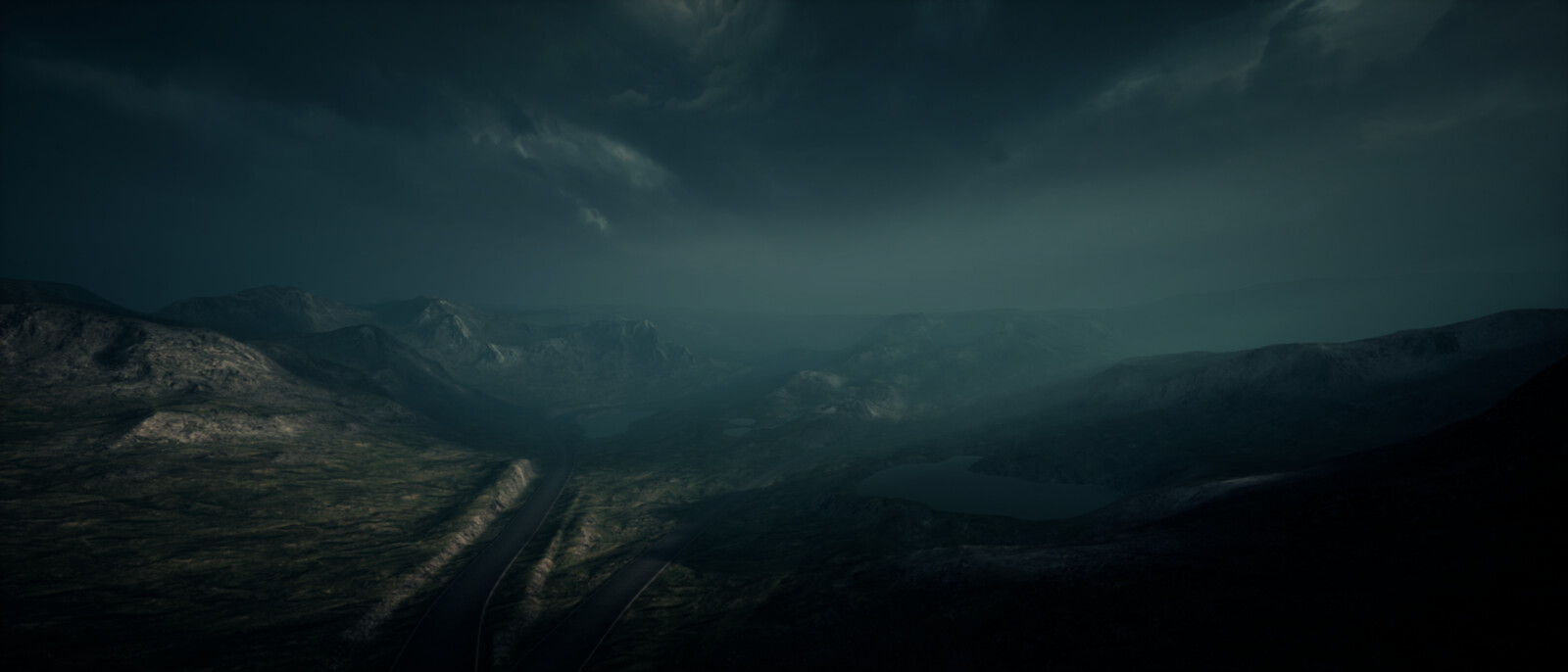 Matte Painting Skybox // Unreal Engine