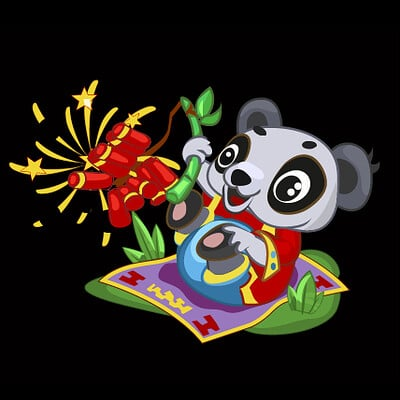 Andrey bychev andrey bychev panda with crackers