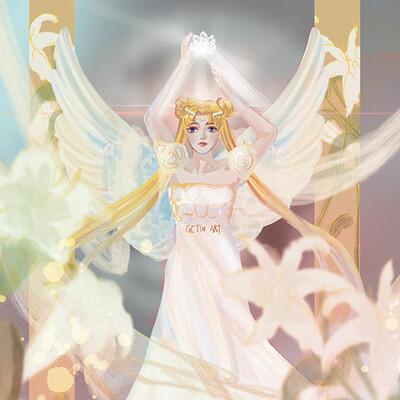 Gechunyi wang princess serenity by gcyw art