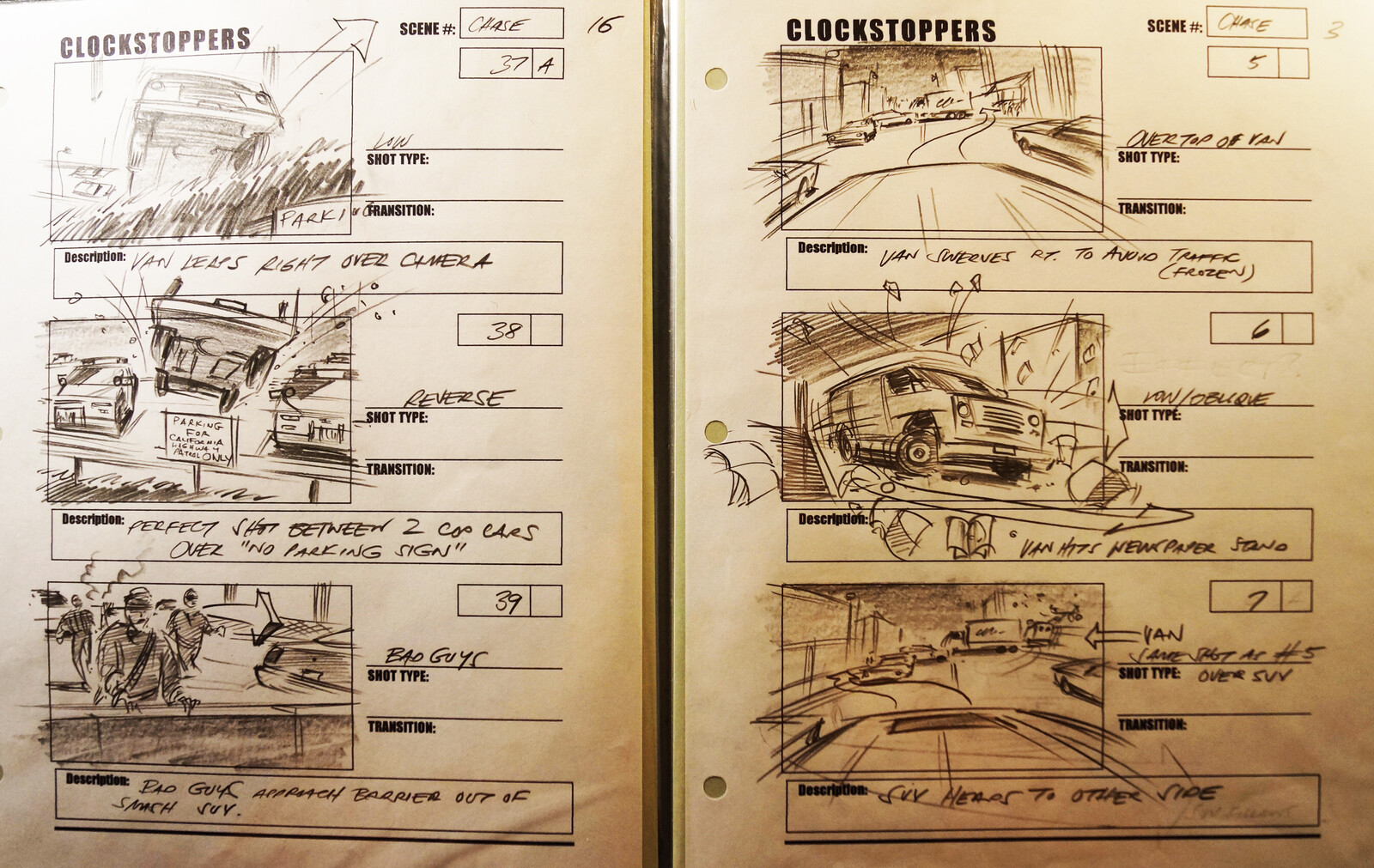 STORYBOARDS FOR FILM, TV & COMMERCIALS