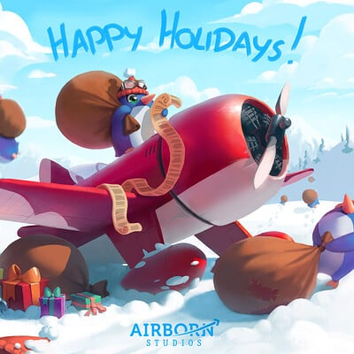 Airborn studios airborn holiday card 2019