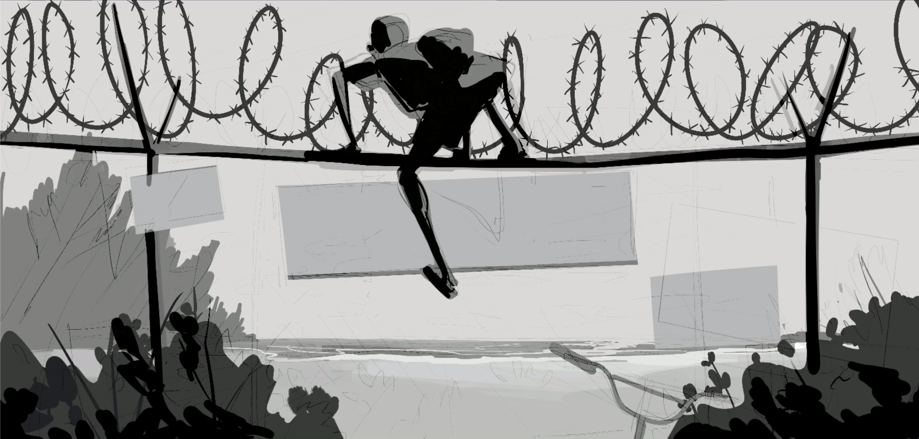 Fenced In  -  Second Draft Greyscale