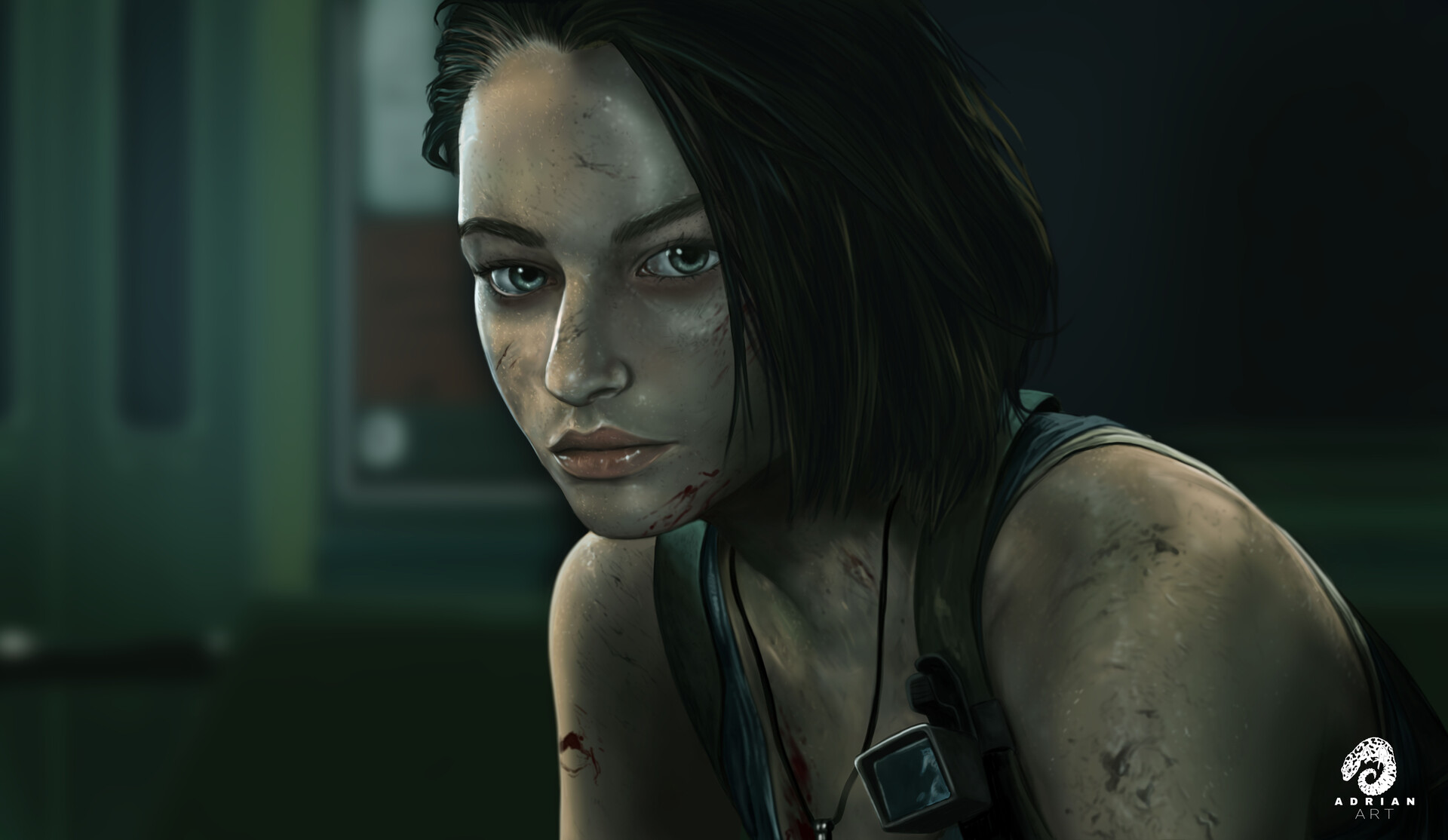 Artstation Jill Valentine Portrait Sasha Zotova Resident Evil 3 Remake Speedpainting Adrianart Digital
