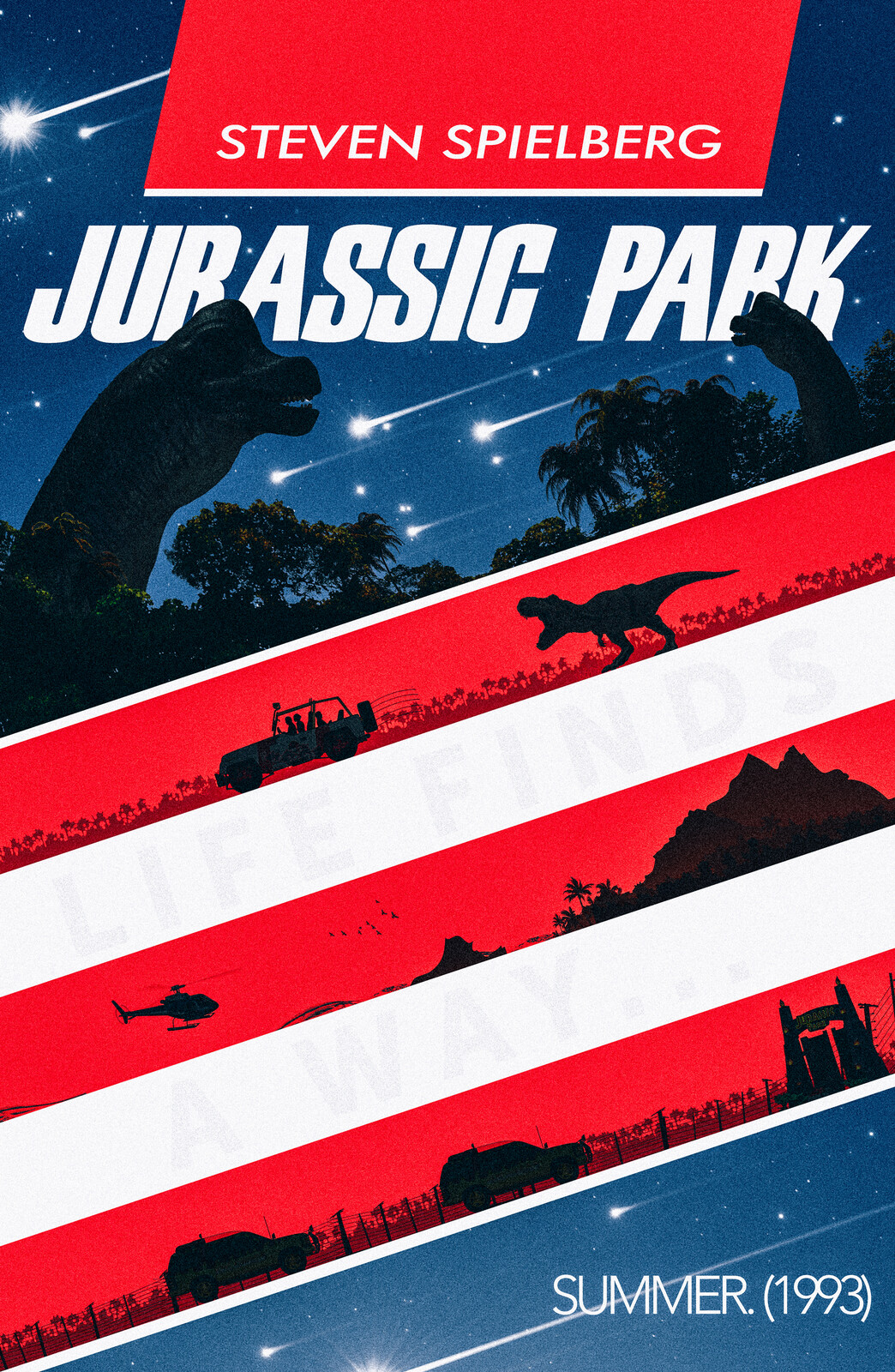 Jurassic Park - Alternate Barbasol themed Movie Poster - Neemz, The Movie Poster Guy