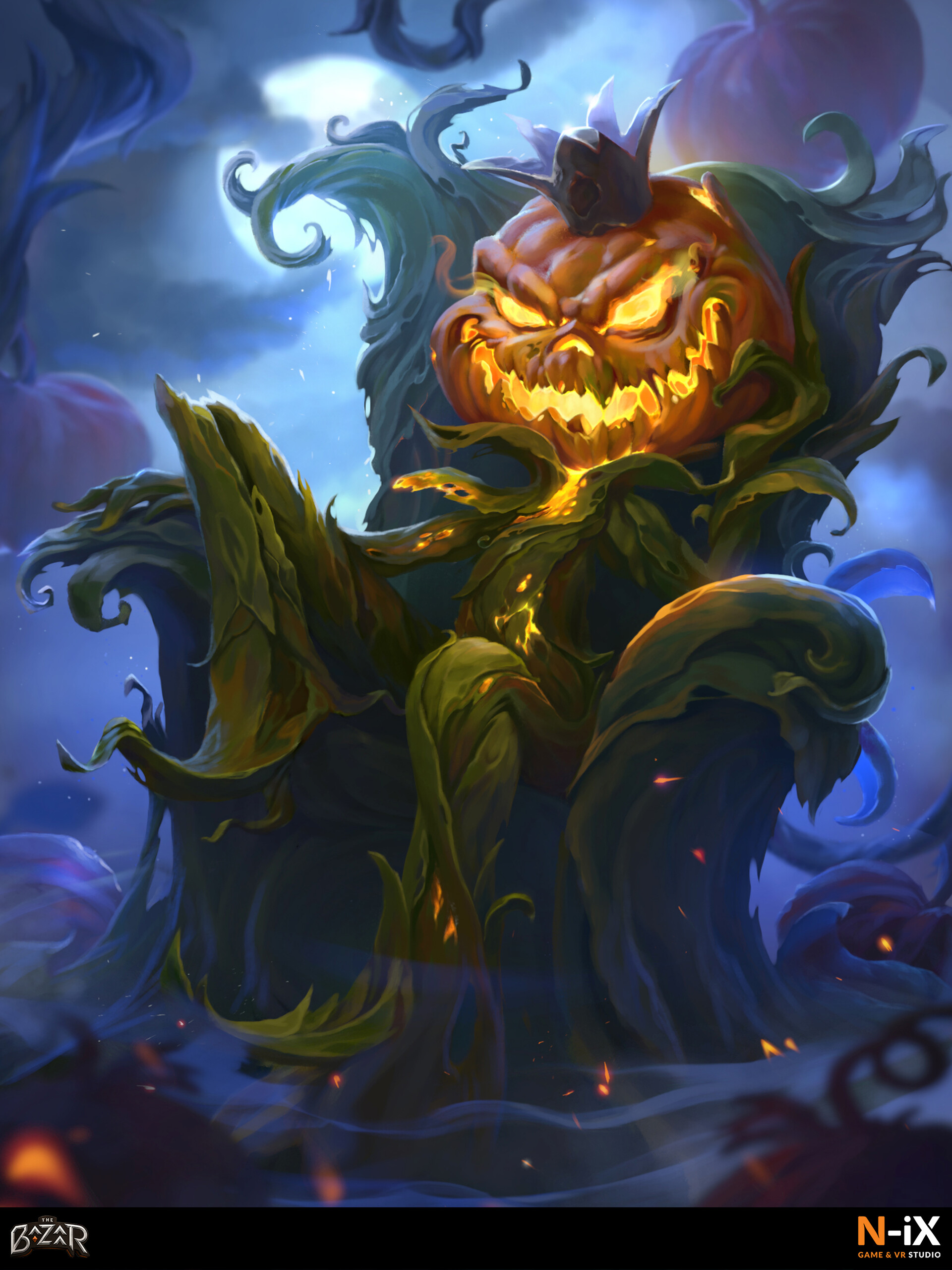 The Bazaar Pumpkin king card artwork based on backers description