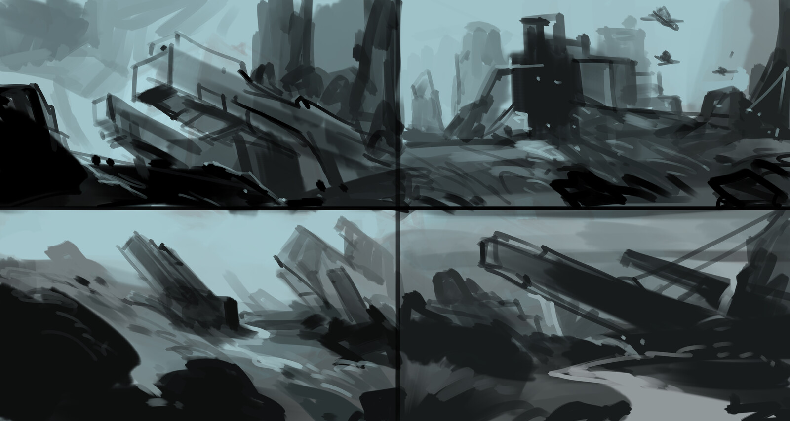 game environment  concept  layout