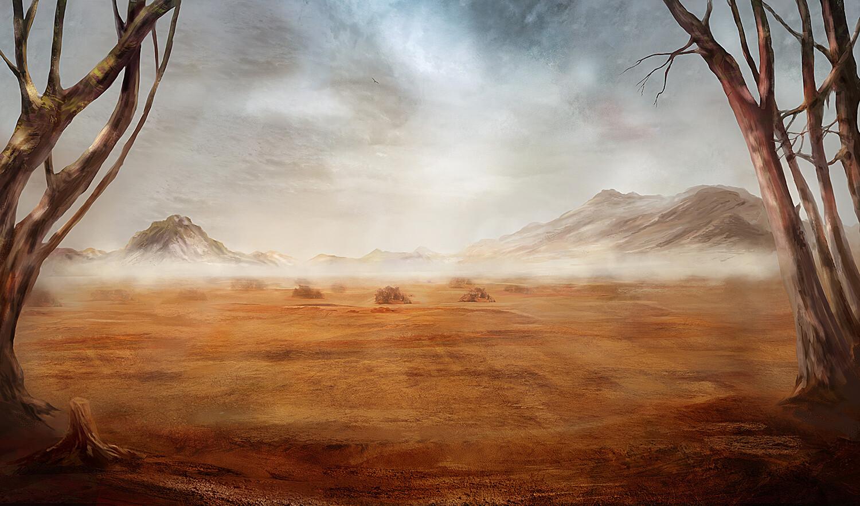 Artstation Fantasy Desert Landscape Maxim Boldyrev