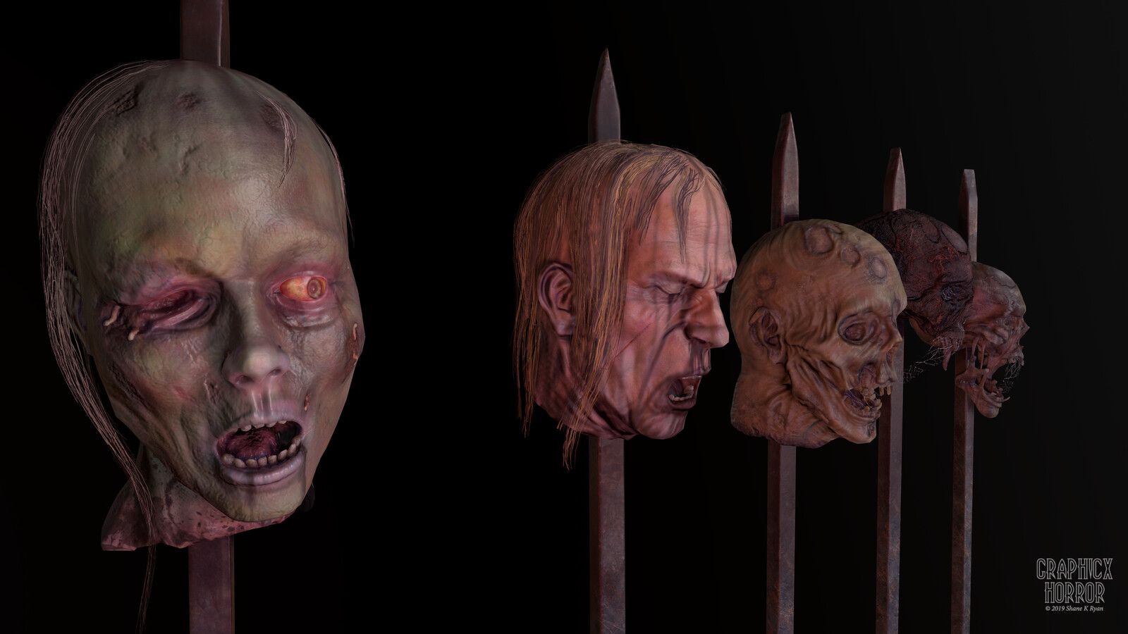 Severed Heads Game Prop