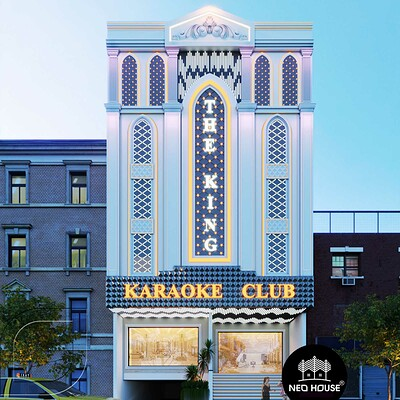 Neohouse architecture thiet ke karaoke ban co dien 5 tang tai quang ngai 1