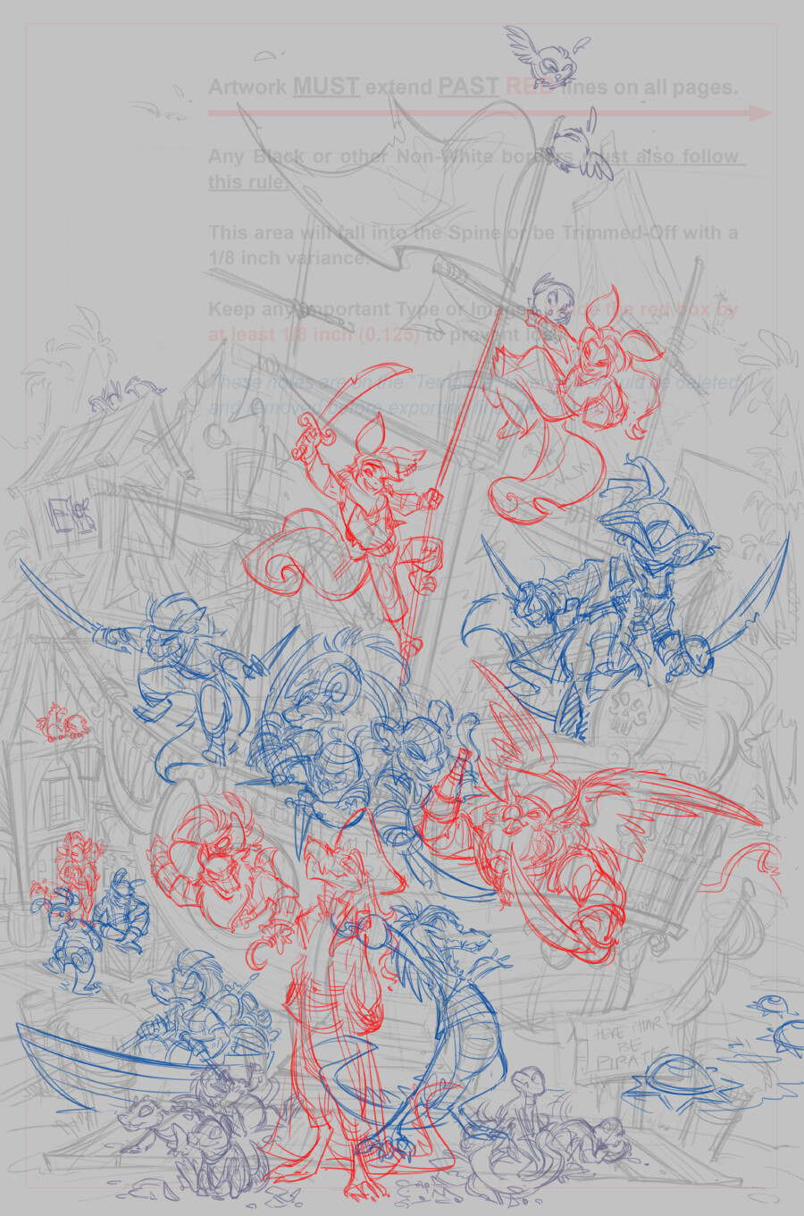 First pass of characters composition