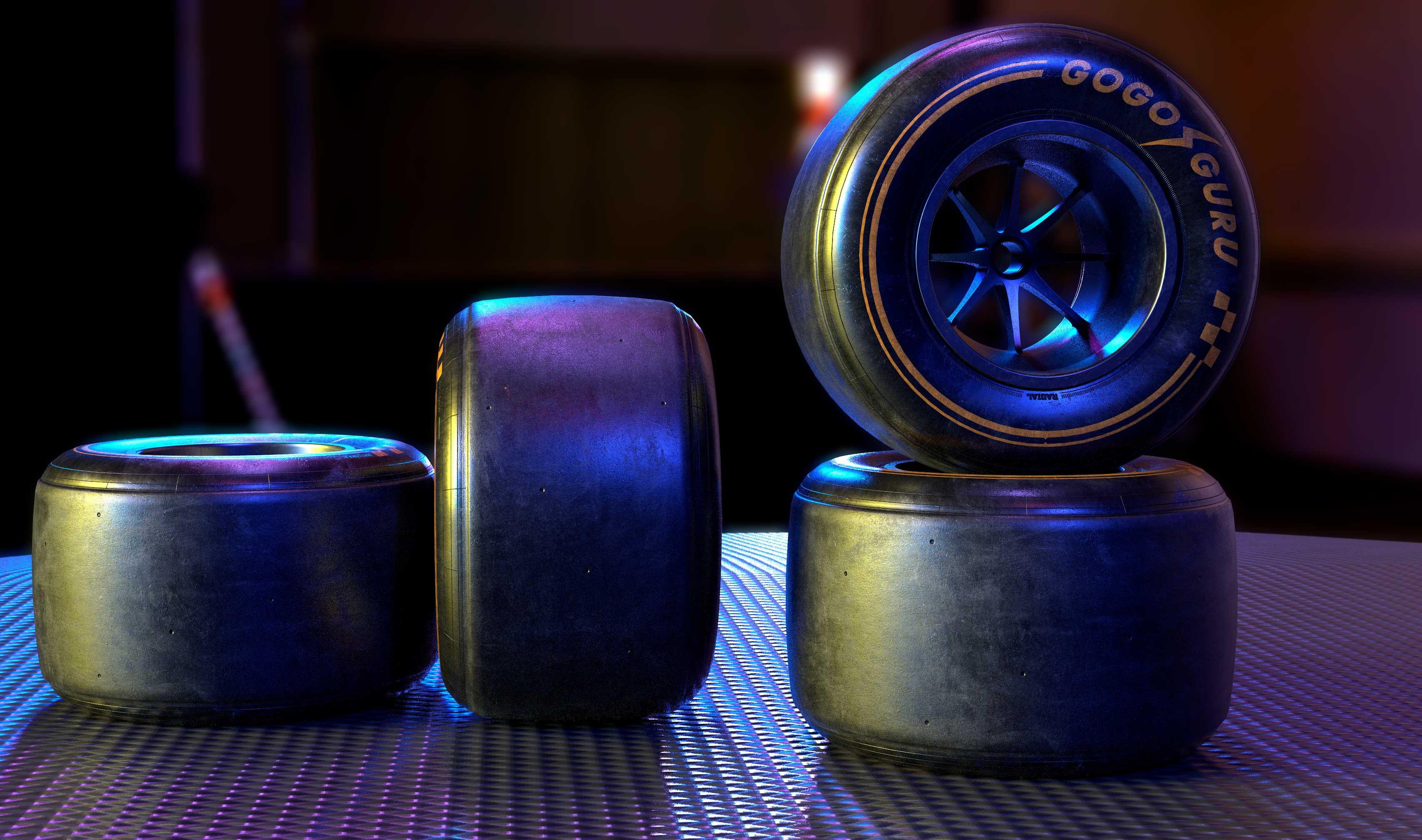 GOGO GURU 2019 F1 rear tiers made by Alan Mattano at SoaringStars lab