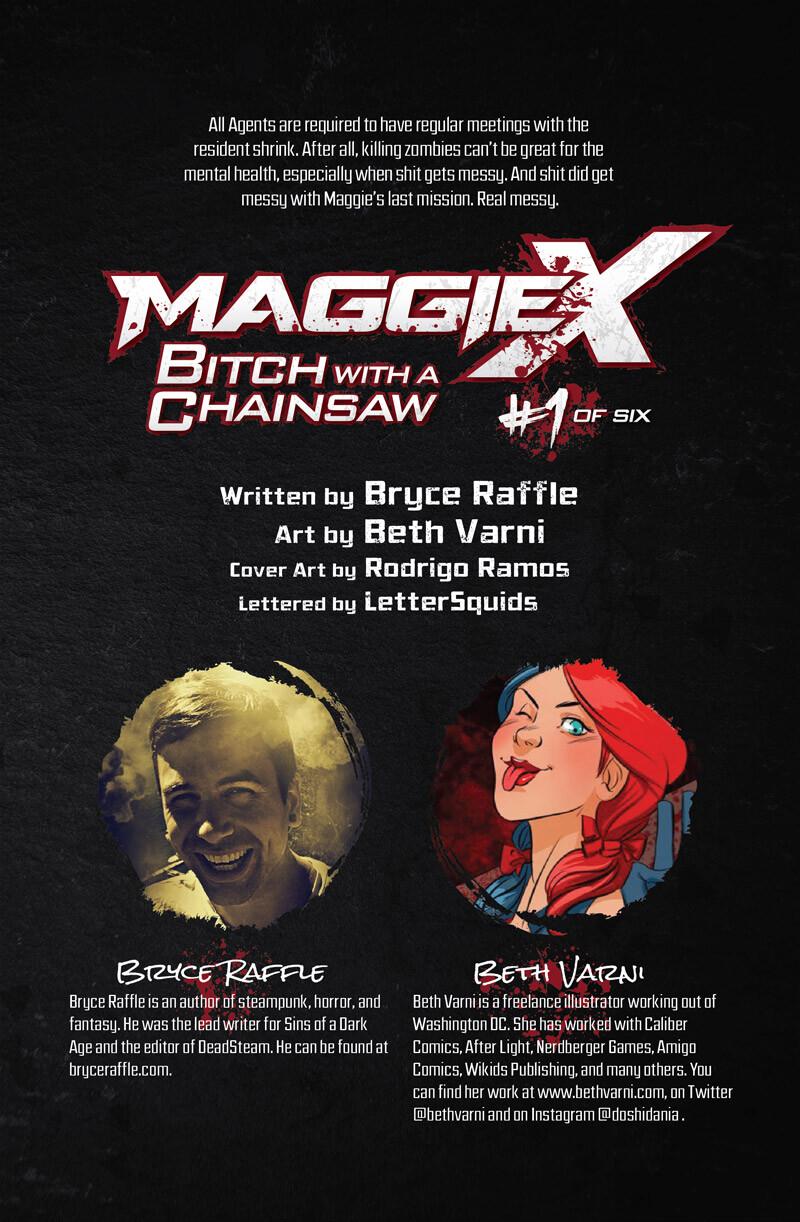 MaggieX #1 (Lettering and Interior Page Design)