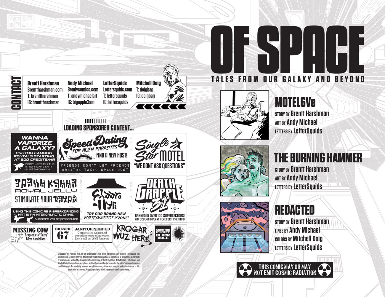 Of Space Anthology (Lettering and Interior Page Design)
