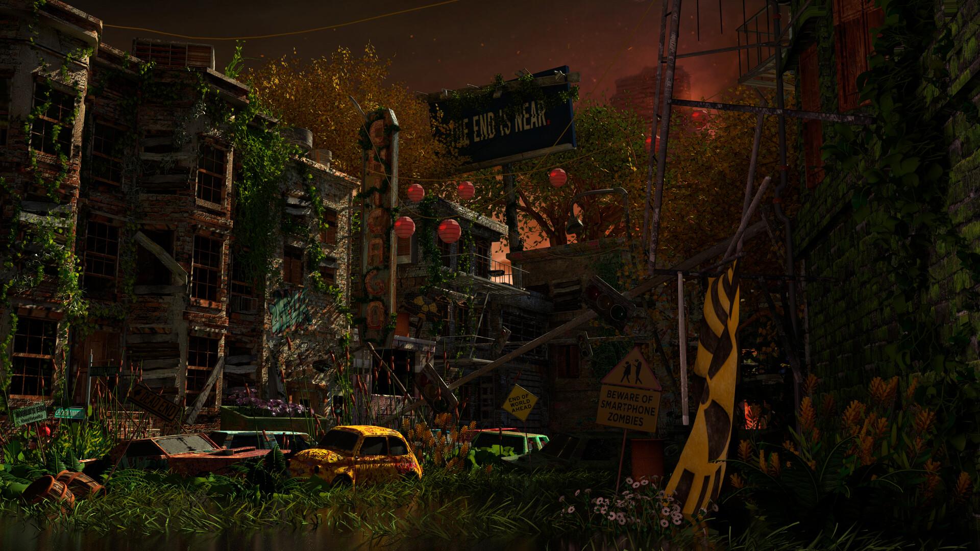 Artstation Post Apocalyptic City Kelsey Hudacsek
