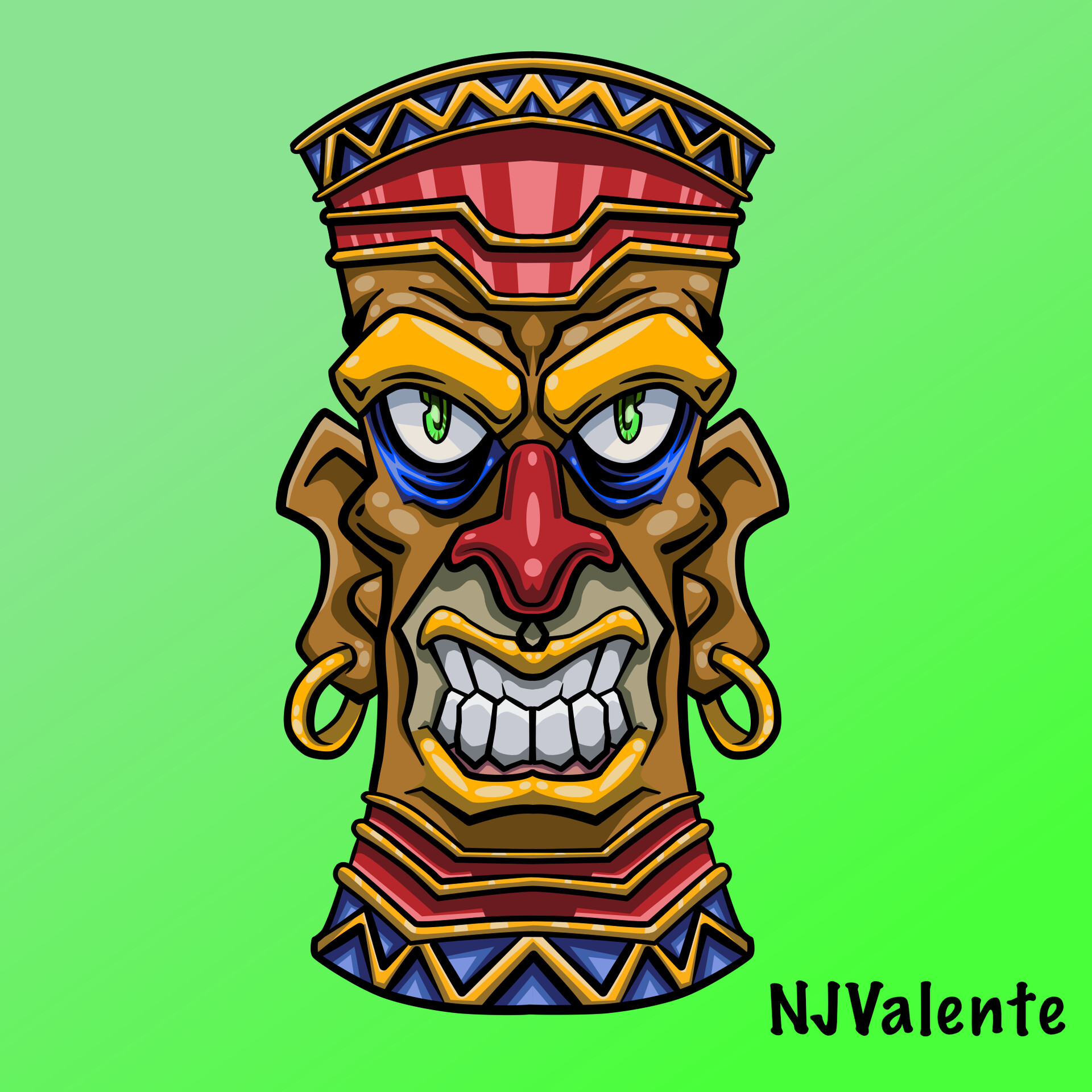 Tiki vector art.