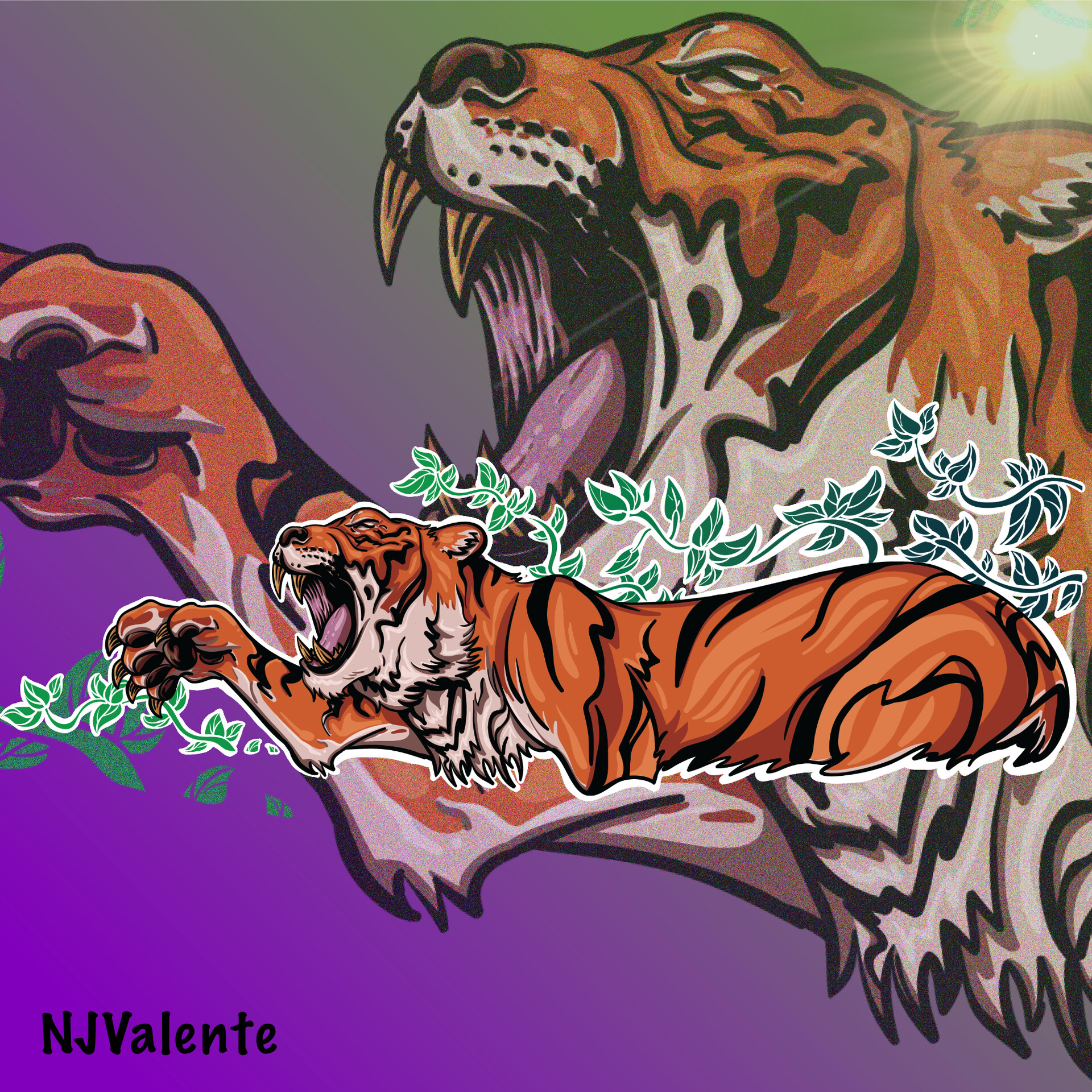 Tiger vector illustration.