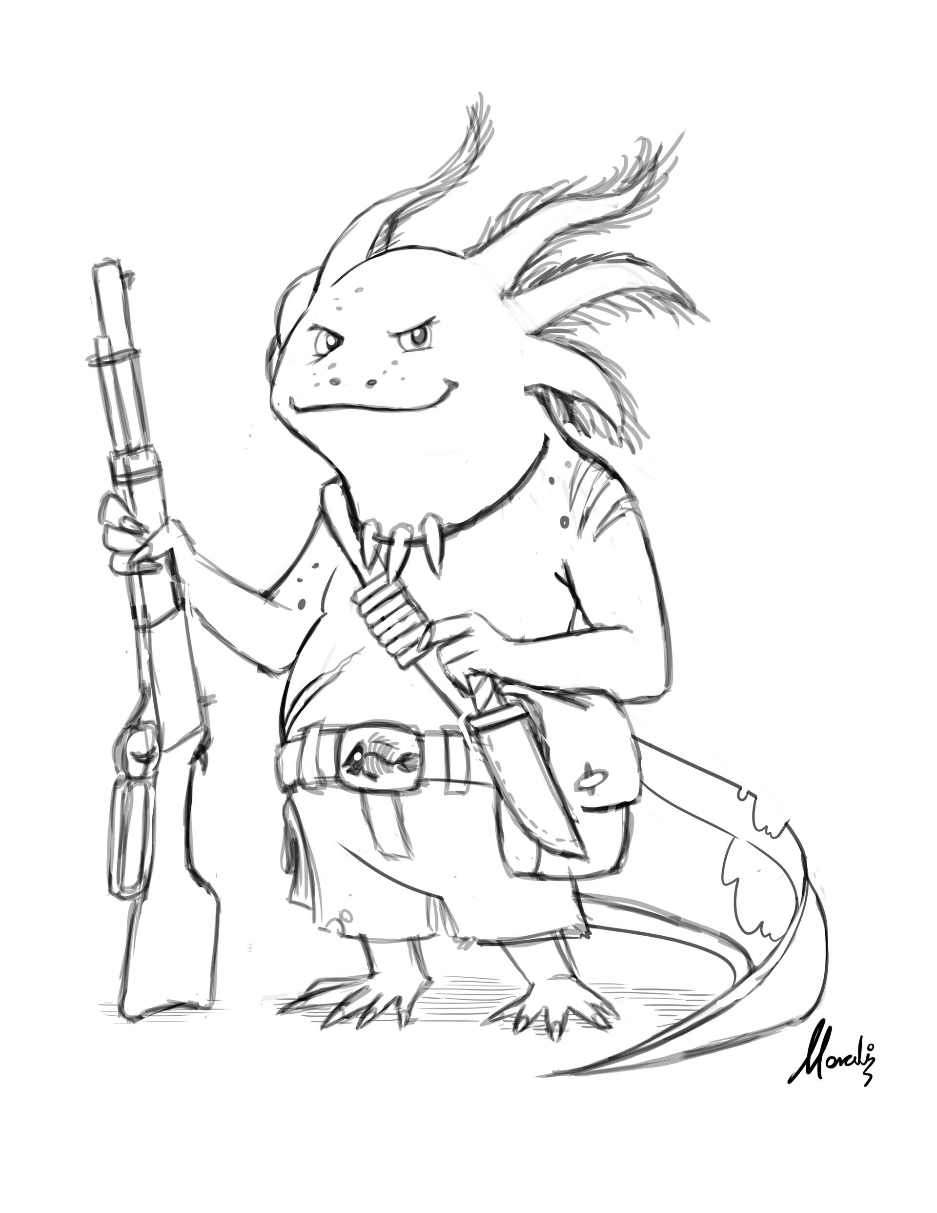 Mauricio morali axolotl sketch