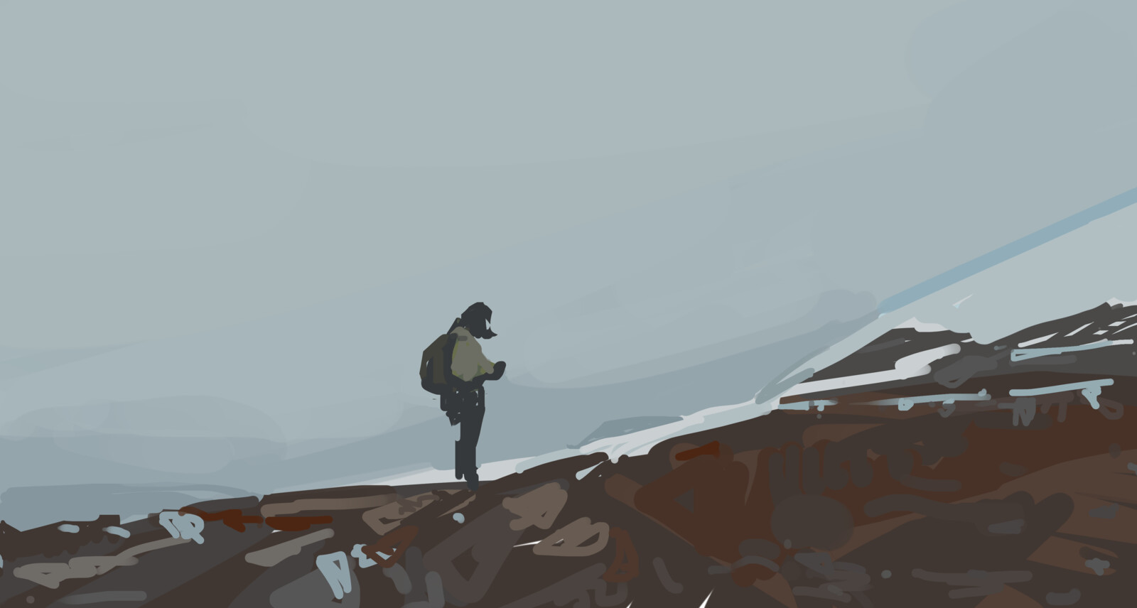 Mountain on a Tundra
