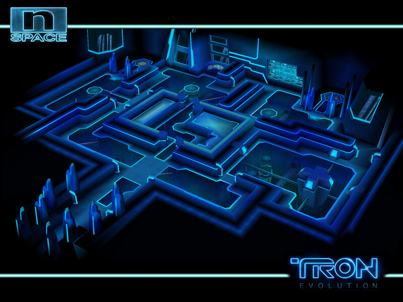 Environment modeled, textured and lighted for Disney's Tron Evolution DS. © Disney 2010 / © nSpace 2010