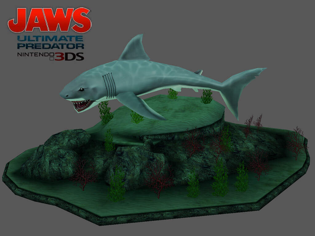 I modeled and textured the shark hero model and his subsequent damaged skins. © Majesco / nSpace 2011