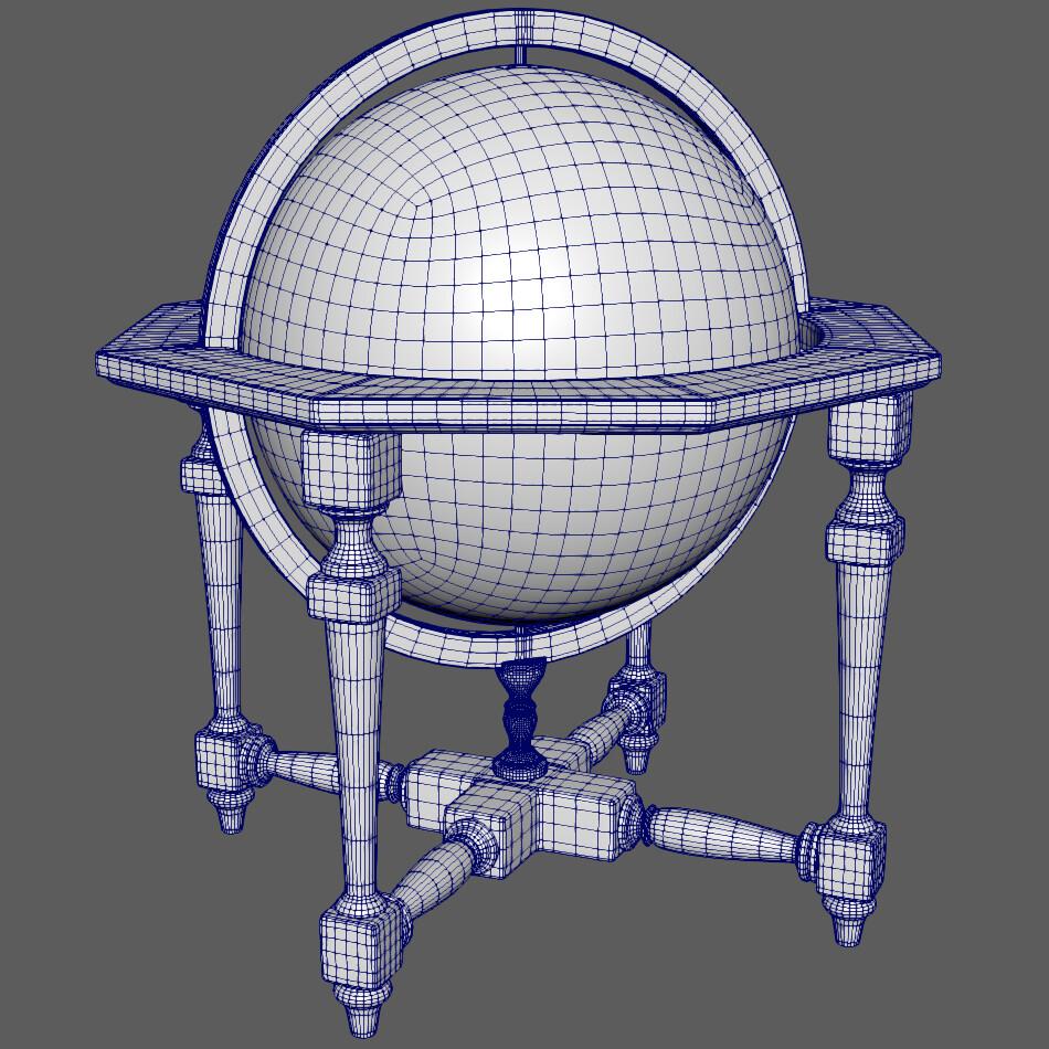Globe model created in Maya 2019