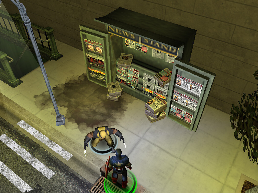 I modeled and textured this news stand asset for Marvel Ultimate Alliance 2 for the Nintendo Wii and PS2. © 2009 Marvel / Activision / nSpace
