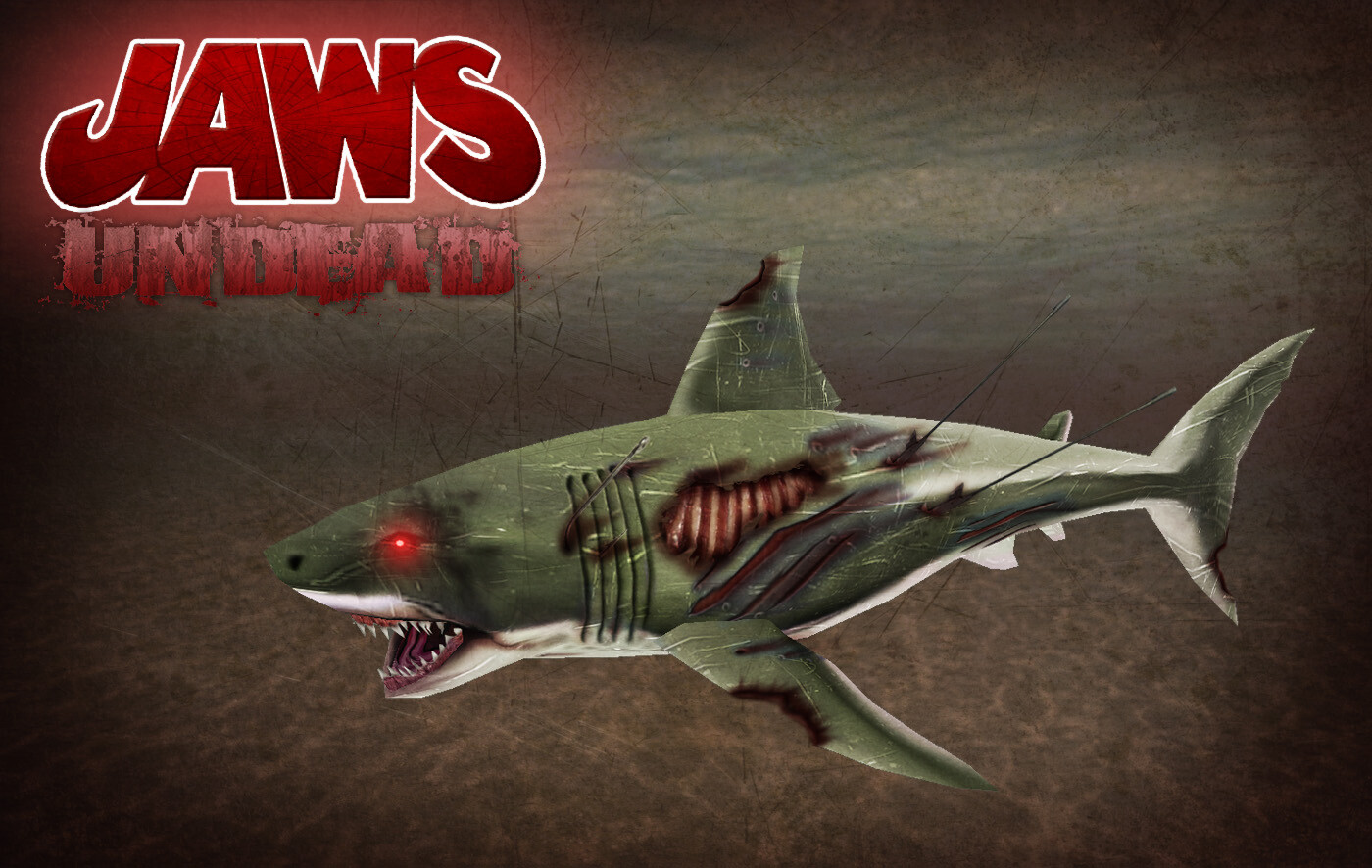 A concept piece  created during production for an alternate skin. Unfortunately this version of the shark never made it into the final game.