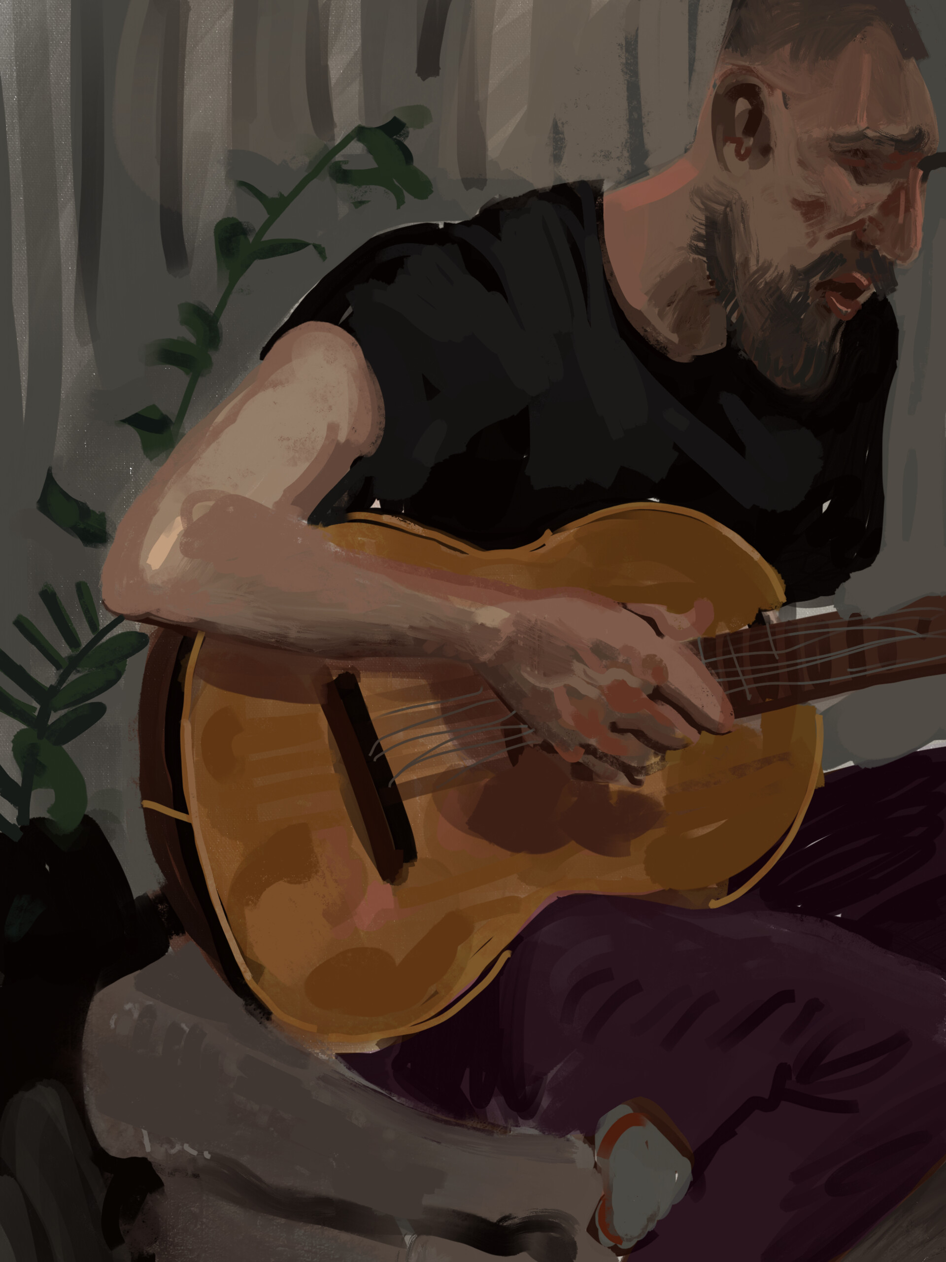 Holday sketching on the iPad