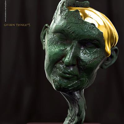 Surajit sen golden thoughts digital sculpture surajitsen 31dec2019ss 1