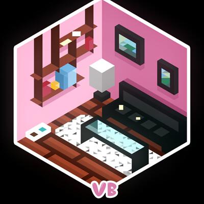 Athina lau pink bedroom credited