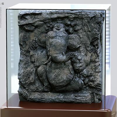 Surajit sen ganesha quick digital sculpture surajitsen jan2020s