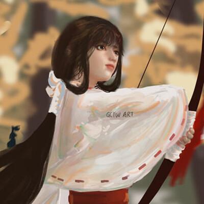 Gechunyi wang kikyo by gcyw art