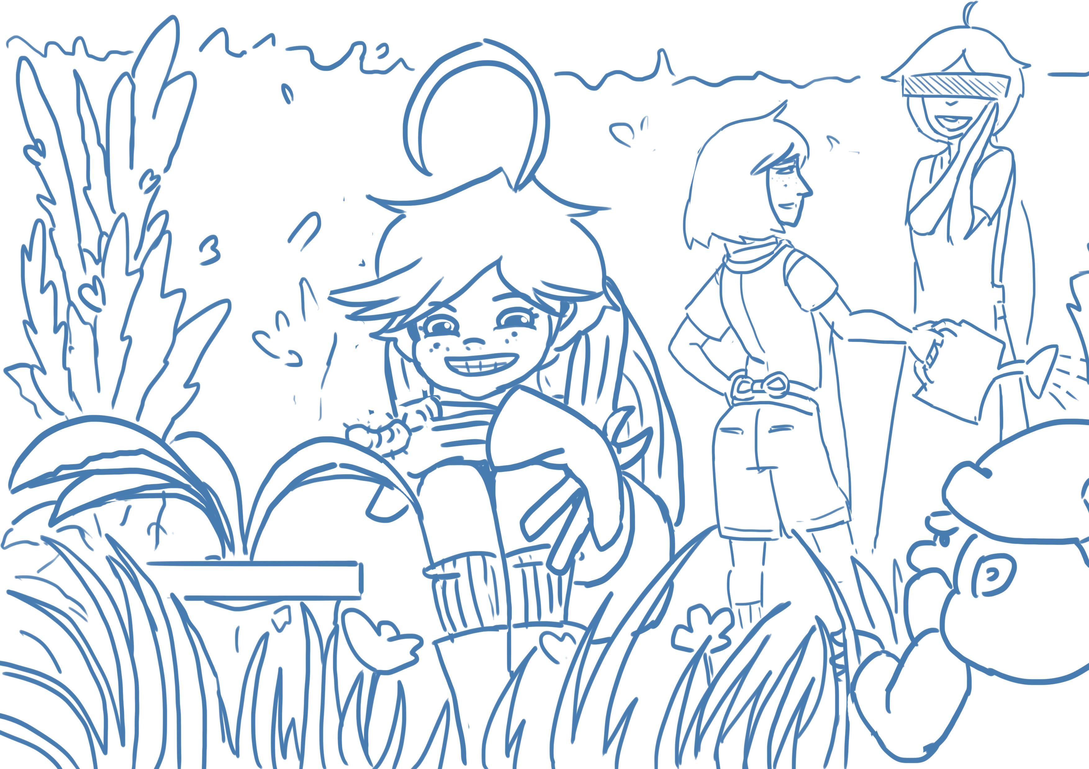 Oktober prompt. Scene study involving murderous gnomes.