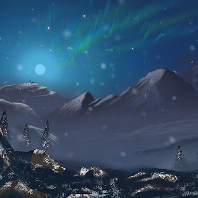 Quentin chapelet snow landscape