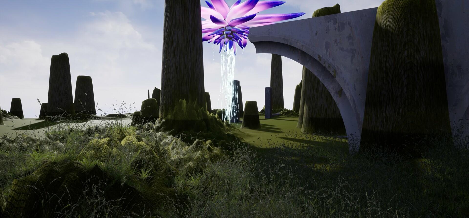 Unreal Flower Landscape II