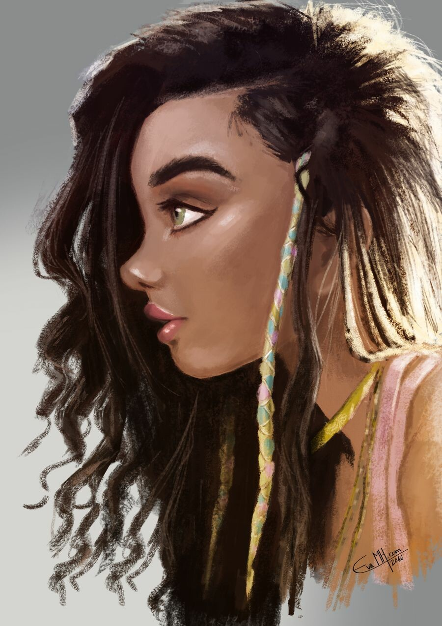 Ashley Moore Portait by EvaMH