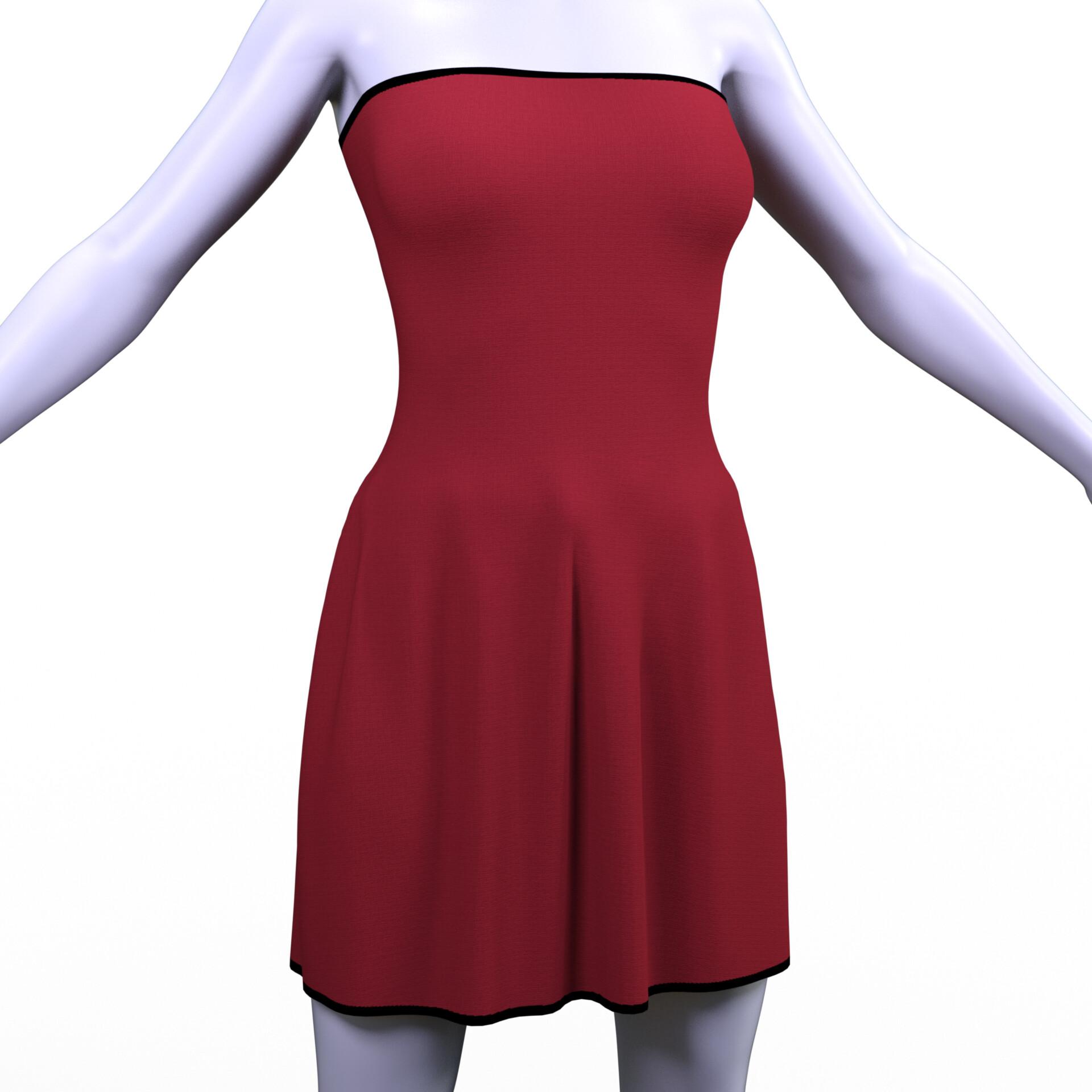 Base dress render