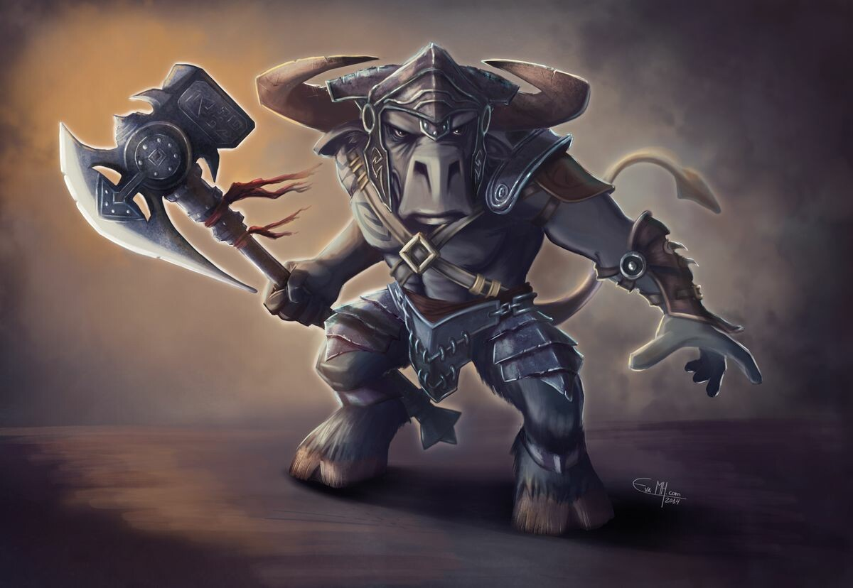 Minotaur character design.