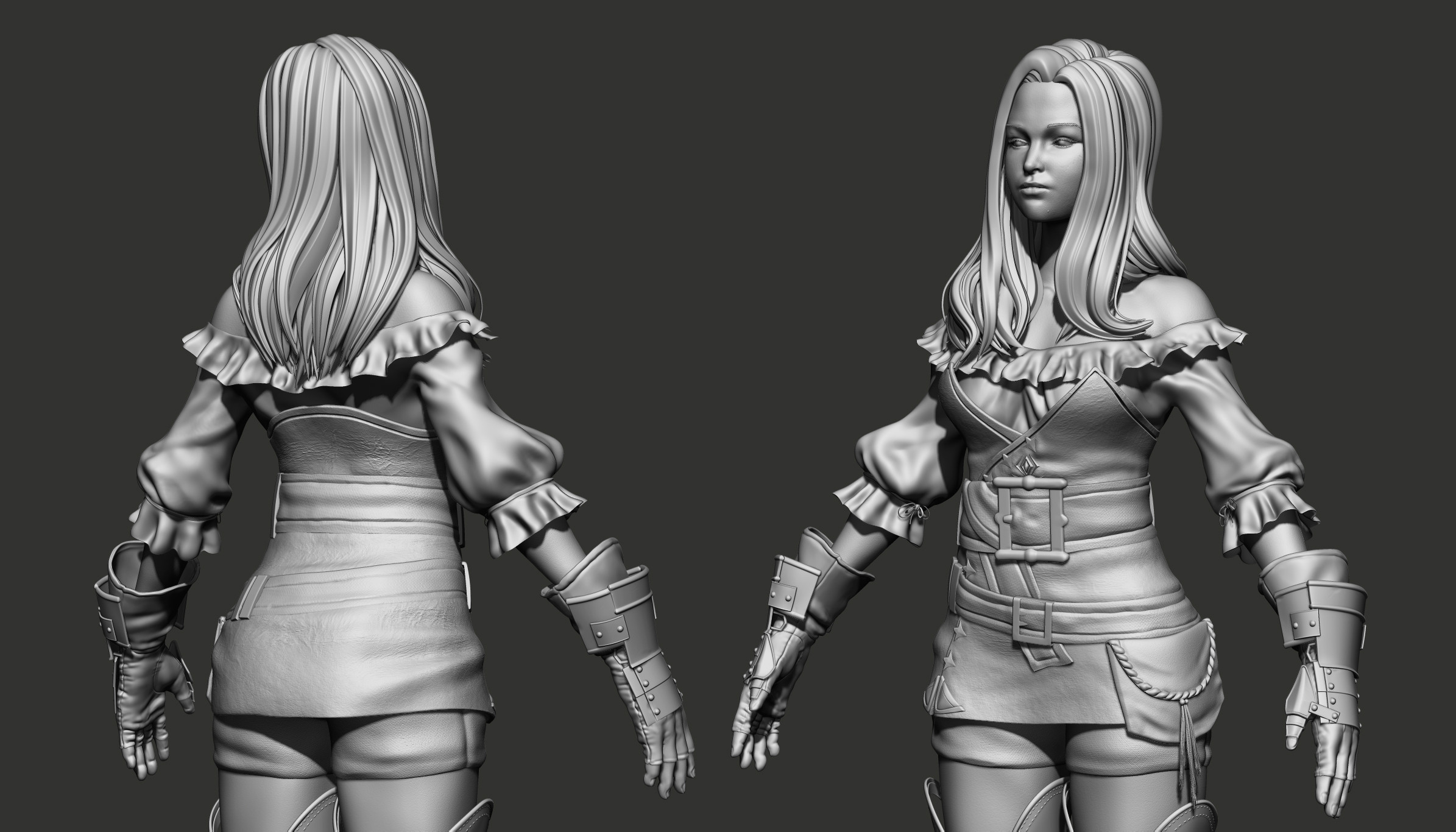 High-poly sculpt in Zbrush