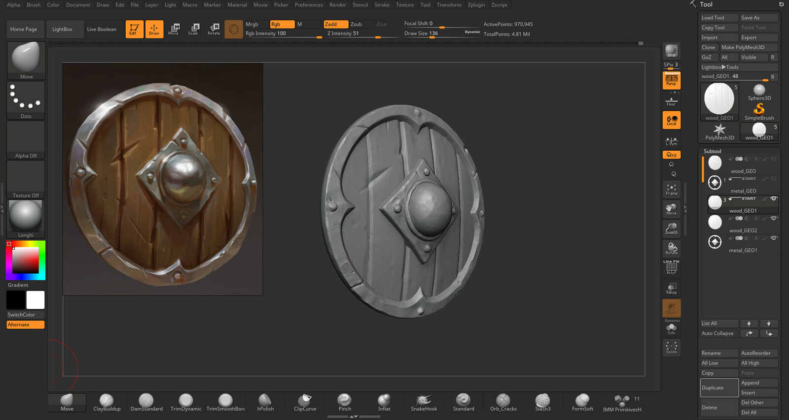 Sculpt details made on Zbrush