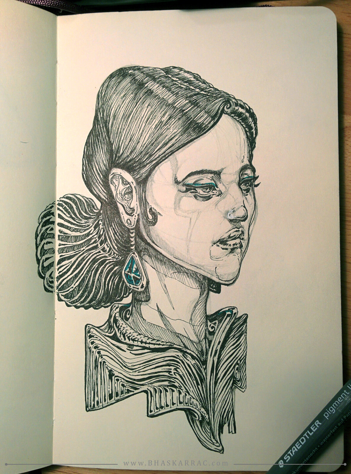 Filling up my Moleskine - more sketches