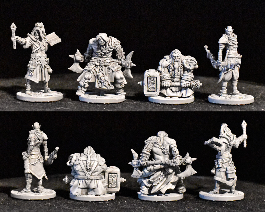 Galandor - Human Wizard Elurin - Elf Raider Sven - Dwarf Warrior Ulrik - Human Barbarian