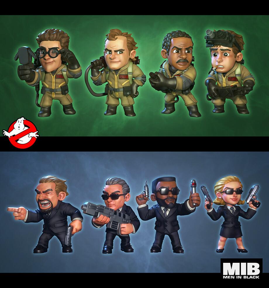 MIB+Ghostbusters: Ecto-terrestrial Invasion - Core Teams