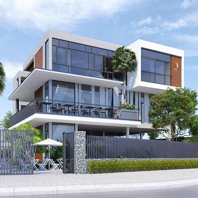 Neohouse architecture thiet ke biet thu pho hien dai ket hop quan cafe 1